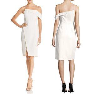 NWT Laundry Asymmetric Cocktail Dress White Slit